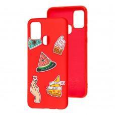 Чехол для Samsung Galaxy M31 (M315) Wave Fancy color style watermelon / red