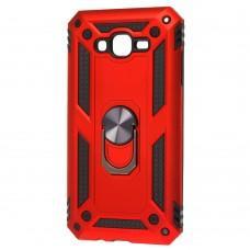 Чехол для Samsung Galaxy J7 (J700) Serge Ring ударопрочный красный
