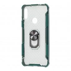 Чехол для Xiaomi Redmi Note 7 CrystalRing зеленый