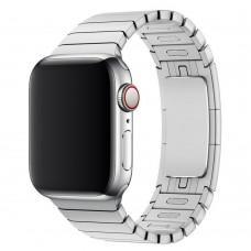 Ремешок для Apple Watch 38mm / 40mm 1-bead metal серебристый