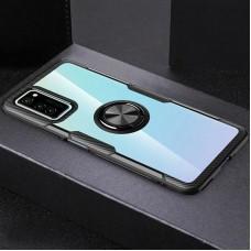 Чехол для Samsung Galaxy Note 20 (N980) Deen CrystalRing с кольцом черный