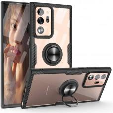 Чехол для Samsung Galaxy Note 20 Ultra (N986) Deen CrystalRing с кольцом черный