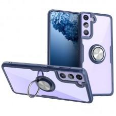 Чехол для Samsung Galaxy S21+ (G996) Deen CrystalRing с кольцом темно-синий