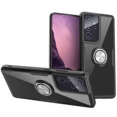 Чехол для Samsung Galaxy S21 Ultra (G998) Deen CrystalRing с кольцом черный