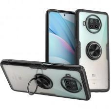 Чехол для Xiaomi Mi 10T Lite Deen CrystalRing с кольцом черный