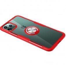 Чехол для iPhone 11 Pro Deen CrystalRing с кольцом красный