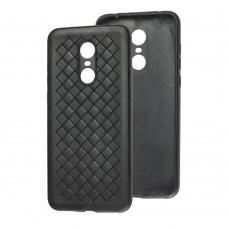 Чехол для Xiaomi Redmi 5 Plus Weaving черный