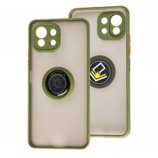 Чехол для Xiaomi Mi 11 Lite LikGus Edging Ring зеленый