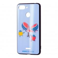 "Чехол для Xiaomi Redmi 6 Wave Monaco ""арбуз"" голубой"