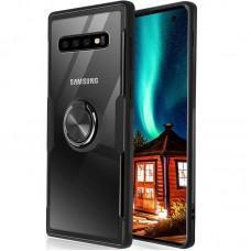 Чехол для Samsung Galaxy S10+ (G975) Deen CrystalRing с кольцом черный