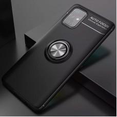 Чехол для Samsung Galaxy A52 Deen ColorRing с кольцом черный