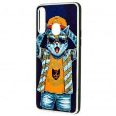 Чехол для Samsung Galaxy A20s (A207) Fashion mix кот