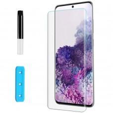 Защитное 3D стекло для Samsung S20+ (G985) UV Nano прозрачное UV клей + лампа