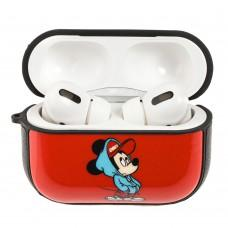 Чехол для AirPods Pro Young Style Mickey Mouse красный