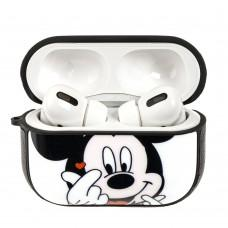 Чехол для AirPods Pro Young Style Mickey Mouse белый дизайн 2