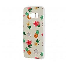 Чехол для Samsung Galaxy S8 (G950) с принтом ананас и кокос