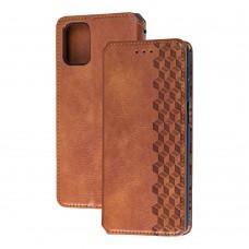 Чехол книжка для Samsung Galaxy M31s (M317) Getman Cubic коричневый