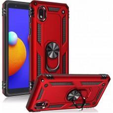Чехол для Samsung Galaxy A01 Core (A013) Serge Ring ударопрочный красный