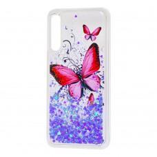"Чехол для Huawei P Smart Pro Блестки вода ""бабочка"""