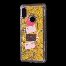 "Чехол для Xiaomi Redmi Note 5 Pro Блестки вода Fashion золотистый ""Хохо"""