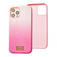 Чехол для iPhone 12 / 12 Pro Gif Gradient розовый