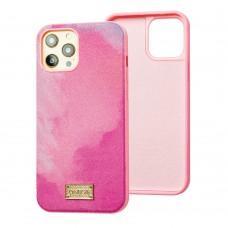 Чехол для iPhone 12 / 12 Pro Gif Wave style розовый