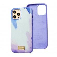 Чехол для iPhone 12 / 12 Pro Gif Wave style фиолетовый