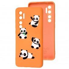 Чехол для Xiaomi Mi Note 10 Lite Wave Fancy panda / peach