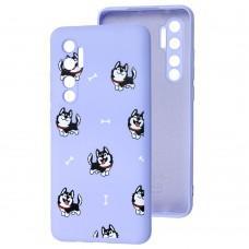 Чехол для Xiaomi Mi Note 10 Lite Wave Fancy haski / light purple
