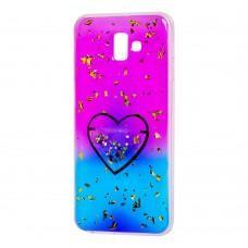 """Чехол для Samsung Galaxy J6+ 2018 (J610) Multi confetti розовый """"Сердце"""""""