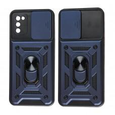 Чехол для Samsung Galaxy A02s (A025) Serge Ring Armor ударопрочный синий