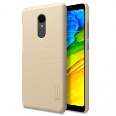 Чехол для Xiaomi Redmi 5 Plus Nillkin с защитной пленкой золотистый