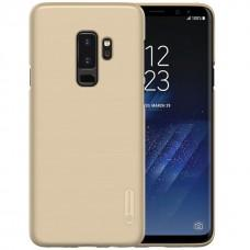 Чехол для Samsung Galaxy S9+ Nillkin с защитной пленкой золотистый