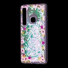 """Чехол для Samsung Galaxy A9 2018 (A920) вода светло-розовый """"цветы"""""""
