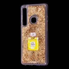 """Чехол для Samsung Galaxy A9 2018 (A920) вода золотистый """"духи"""""""