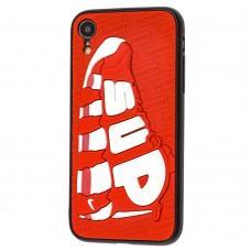 Чехол для iPhone Xr Sneakers Brand sup красный / белый
