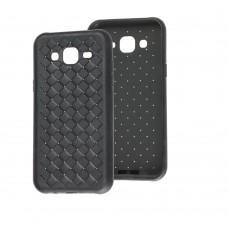Чехол для Samsung Galaxy J5 (J500) Weaving черный