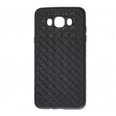 Чехол для Samsung Galaxy J7 2016 (J710) Weaving черный
