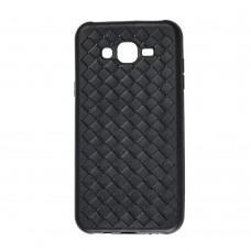 Чехол для Samsung Galaxy J7 (J700) Weaving черный