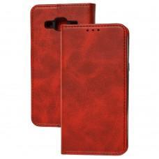 Чехол книжка для Samsung Galaxy J5 (J500) Black magnet красный