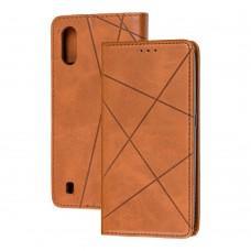 Чехол книжка Business Leather для Samsung Galaxy A01 (A015) коричневый