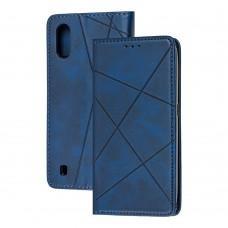 Чехол книжка Business Leather для Samsung Galaxy A01 (A015) синий