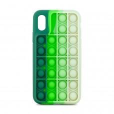 Чехол для iPhone X / Xs Pop it colors антистресс дизайн 3