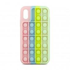 Чехол для iPhone X / Xs Pop it colors антистресс дизайн 6