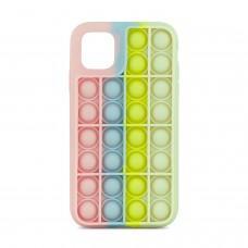 Чехол для iPhone 11 Pop it colors антистресс дизайн 1