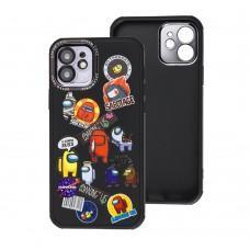 Чехол для iPhone 12 Brand Design among черный