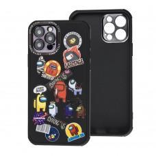 Чехол для iPhone 12 Pro Brand Design among черный