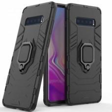 Чехол для Samsung Galaxy S10 (G973) Transformer Ring ударопрочный с кольцом черный