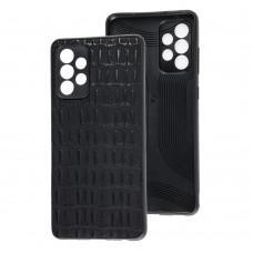 Чехол для Samsung Galaxy A52 Leather case кроко