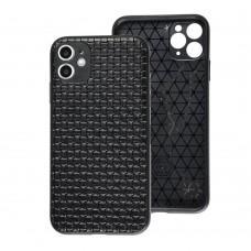 Чехол для iPhone 11 Leather case плетенка